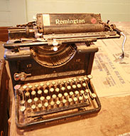 The old book-keepers typewriter